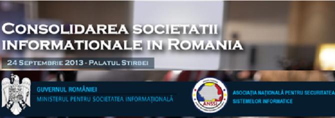 Consolidarea societatii informationale in Romania; cooperarea dintre sectorul public, mediul de afaceri si societatea civila