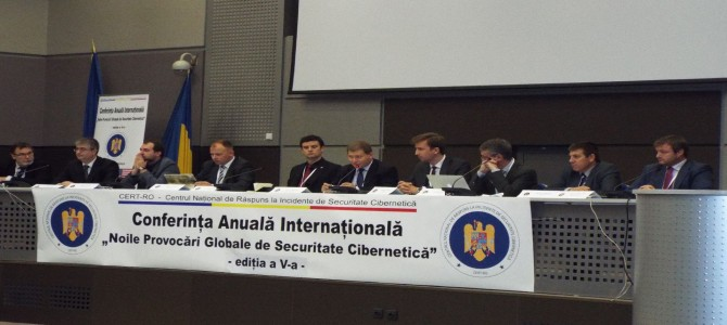 "ANSSI participa la Conferinta Anuala Internationala a CERT.ro ""Noile provocari globale de securitate cibernetica"", editia a V-a"