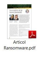 Articol Ransomware