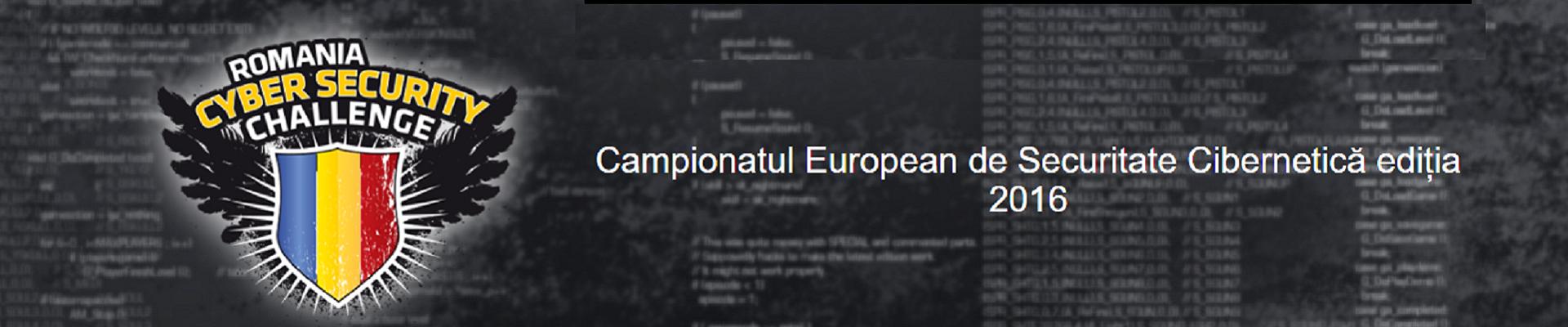 Campionatul European de Securitate Cibernetica – Cybersecurity Challenge 2016