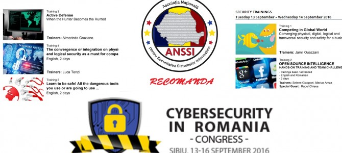 "ANSSI si CLUSIS Elvetia va invita la ""Cybersecurity in Romania"""