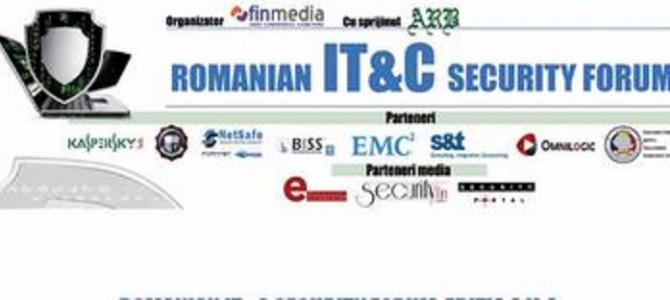 ANSSI participa la cea de-a V-a editie a Romanian IT&C Security Forum