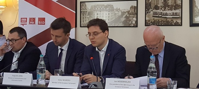 """Eveniment la nivel inalt: """"Cybersecurity in the new digital age"""" cu domnul Victor Negrescu, Europarlamentarul Anului pentru Agenda Digitala si domnul Augustin Jianu, Ministrul Comunicatiilor si Societatii Informationale"""
