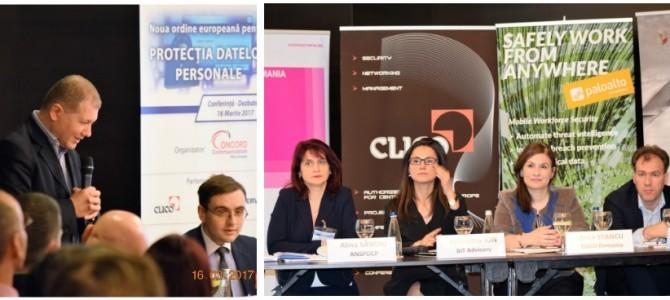 """ANSSI a participat joi, 16 martie, la conferinta """"Noua ordine europeana pentru  Protectia Datelor Personale"""""""