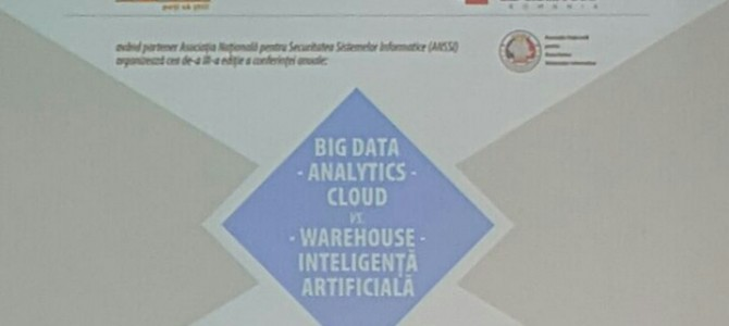 Vineri, 18 mai, am discutat despre Big Data, Analytics si Cloud