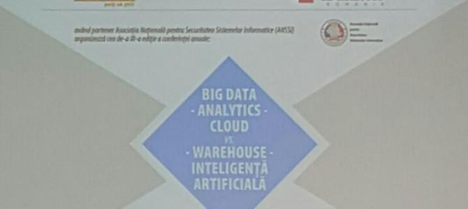 Vineri, 18 mai, am discutat despre Big Data, Analytics si Cloud