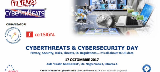 17 octombrie: ANSSI@ CYBERTHREATS AND CYBERSECURITY DAY