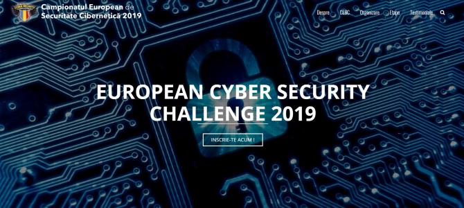 Au început înscrierile! În perioada 6 – 7 aprilie 2019, Serviciul Român de Informații, împreună cu CERT-RO și Asociația Națională pentru Securitatea Sistemelor Informatice, alături de partenerii Orange Romania, Bit Sentinel, certSIGN, CISCO, Microsoft, Clico, Palo Alto și Emag, organizează prima etapă de selecție (online) a echipei naționale pentru Campionatul European de Securitate Cibernetică, ediția 2019 (ECSC19)