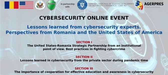 27 mai / Lessons learned from cybersecurity experts, perspectives from Romania and the United States