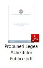 Propuneri Legea Achizitiilor Publice