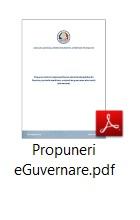 Propuneri eGuvernare