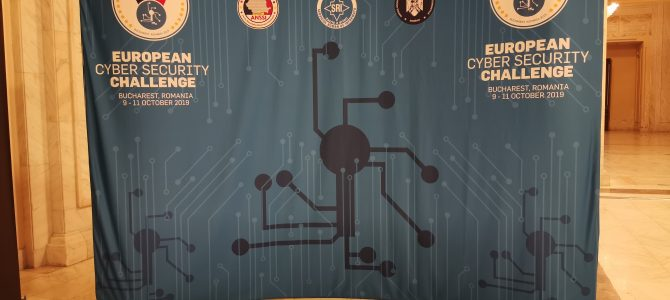 8 octombrie / European Cyber Security Challenge – Welcome