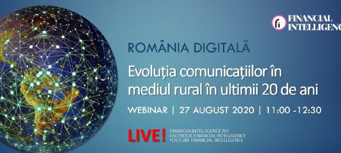 27 august / Romania Digitala – Evolutia comunicatiilor in ultimii 20 de ani
