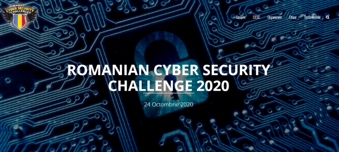 24 octombrie / ROMANIAN CYBER SECURITY CHALLENGE 2020