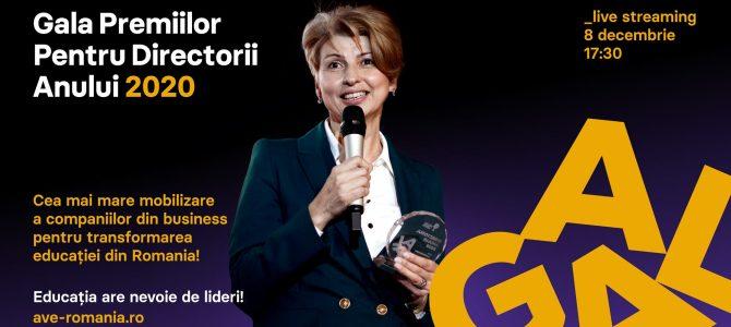 8 decembrie / Gala Premiilor Pentru Directorii Anului 2020!